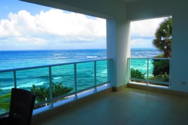 Five bedroom two level luxury penthouse right on the beach - Sosua Vacation Rentals