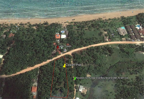 #5 Nice lot in second line beach near Coson Beach